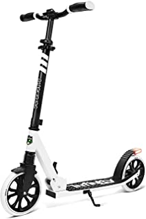 Folding Kick Scooter for Adults and Kids – Boys and Girls Freestyle Scooter with Big Wheels, 1-Kick Open Mechanism, Anti-S...