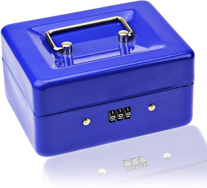 15 opinioni per Piccolo contenitore per contanti con serratura a combinazione, in metallo