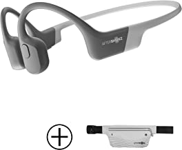 AfterShokz Aeropex Open-Ear Wireless Bone Conduction Headphones with Sport Belt, Lunar Grey