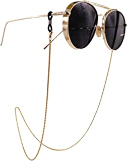 Eyeglass Chain - Kalevel Stainless Steel Sunglass Strap Eyeglass Strap Holder (Gold)