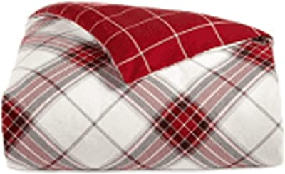 Martha Stewart Twin Duvet Comforter Cover Deer Pond Plaid