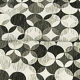 Stoffe Werning Dekostoff Kringelstern Muster Retro