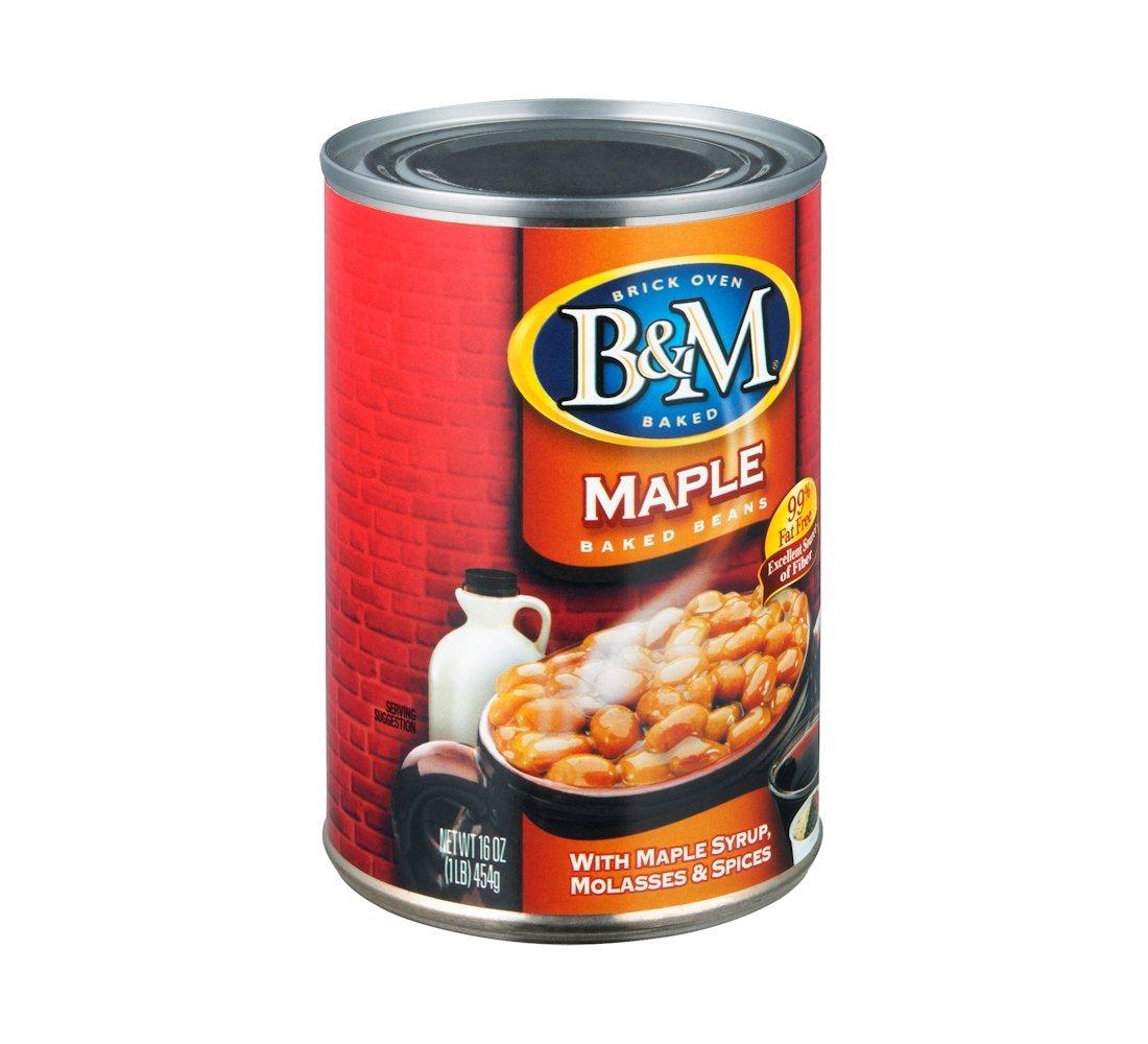 BM Baked Beans, Real Maple Flavor, 16 Ounce
