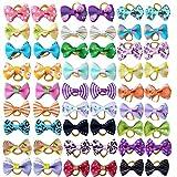 BIPY Fiocchi per capelli con elastici in gomma per cani di piccola taglia, gatto, cuccioli, topknot assortiti, colore casuale
