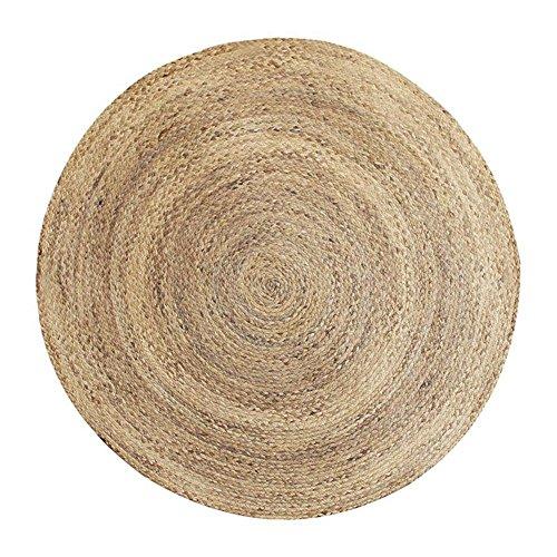 ZHANGTZ Europäischen Und Amerikanischen Stil Einfache Mode Runde Teppich handgewebte Natürliche Umweltschutz Wohnzimmer Schlafzimmer Teppich (größe : 100cm)