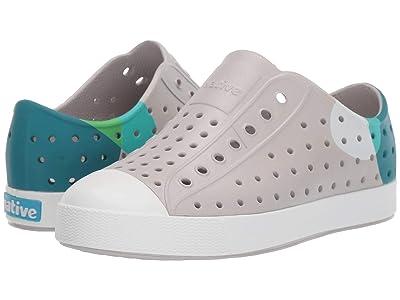 Native Kids Shoes Jefferson Block (Little Kid/Big Kid) (Tundra Grey/Shell White/Dot Block) Kid
