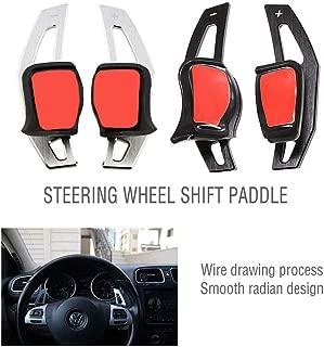YONGHONG for Golf 5 Golf 6 MK5 MK6 GTI R32 R R20 Aluminum Steering Wheel DSG Paddle Extension (Black)