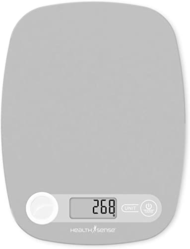 HealthSense Chef-Mate KS 40 Digital Kitchen Weighing Scale & Food Weight Machine for Health, Fitness, Home Baking & C...