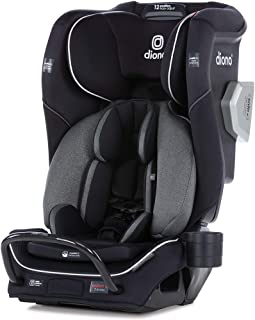 Diono 2020 Radian 3QXT, 4 in 1 Convertible, Safe+ Engineering, 4 Stage Infant Protection, 10 Years 1 Car Seat, Fits 3 Across, Black Jet