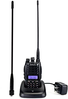 Retevis RT23 2 Way Radio Long Range Dual Band FM Dual PTT Dual Receive walkie talkies with Cross-Band Repeater 128 CH UHF VHF Ham Amateur Radio(1 Pack)