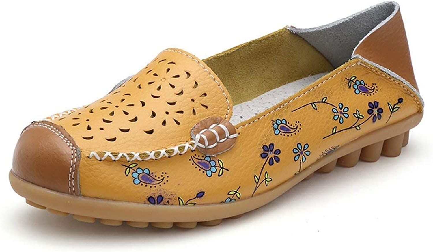 A-LING Womens Suede Flats Comfort Slip On Casual Driving Loafers