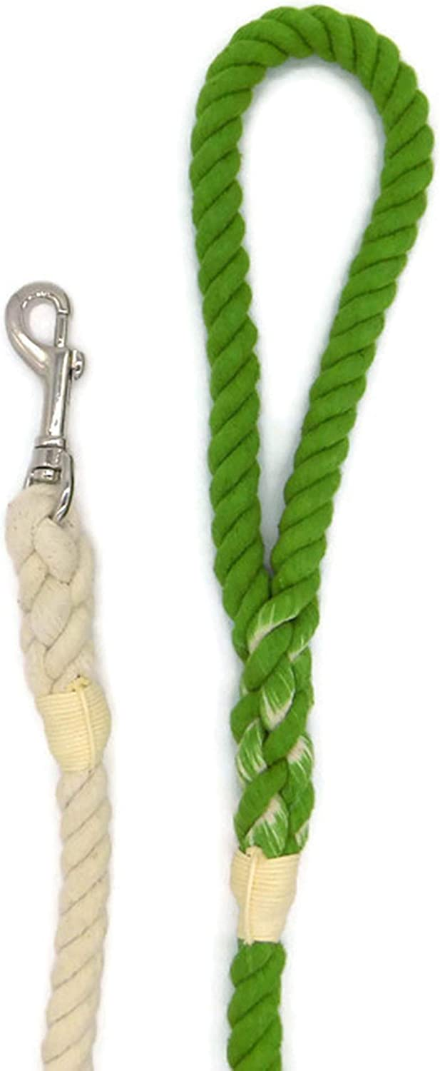 Sier 5ft Ombre Rope Dog Leash Braided Cotton Heavy Duty Strong Durable Multi-Colored