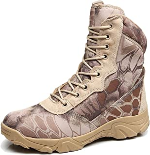 d6a17d51b17 LIUYL Botas Militares para Hombres Senderismo Calzado Botas de Combate del  Desierto Tácticas Zapatos de Camuflaje