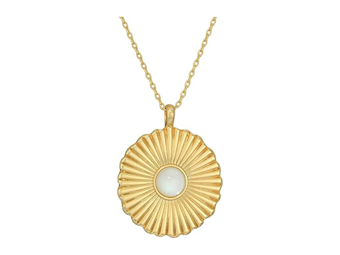 Lucky Brand  Textured Pendant Necklace (Gold) Necklace
