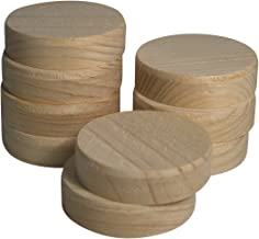 50 stuks dwarshouten plaatjes 35 mm van vurenhout - houten plaatjes 10 mm met vezel
