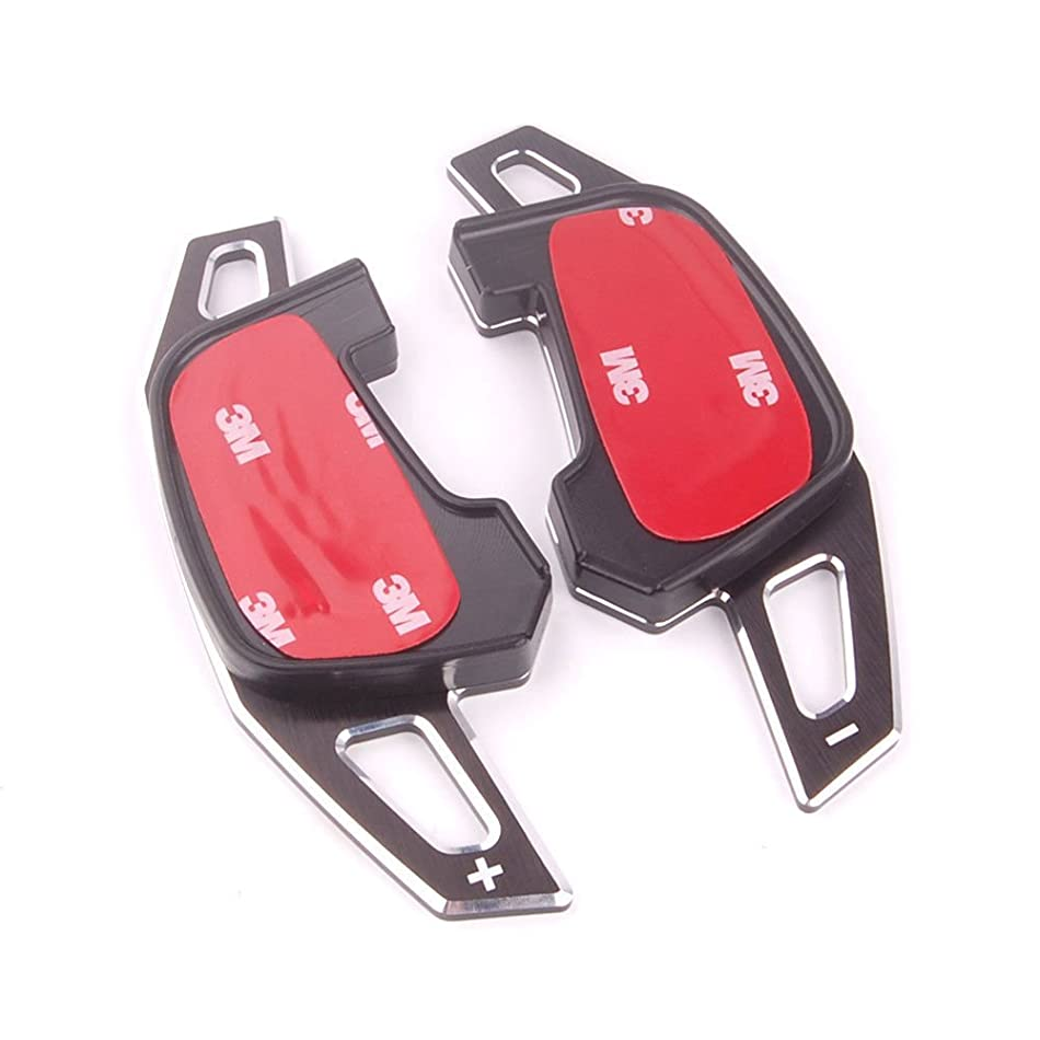 名誉ハッピー一晩Jicorzo - Car Steering Wheel DSG Paddle Extension Shifters Shift Styling Sticker Car Accessories For VW Golf GTI R20 7 R Mk7 VII 2013-2015