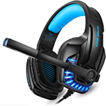 Kotion Each G9100 Gaming Headphones with Mic and LED Light (Black/Blue)