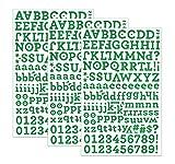 QQ&U Green Glitter Alphabet Letter Stickers 3 Sheets