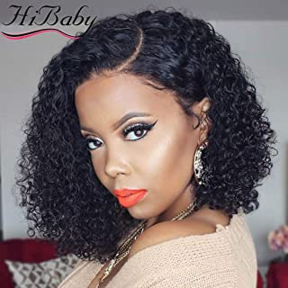 13x6 Lace Front Wigs Human Hair Wigs For Black Women Short Bob Wigs Curly Brazilian Remy Hair Pre Plucked With Baby Hair (8 inch with150% Density)