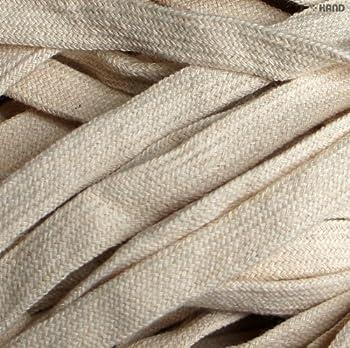 HAND Cotton Rope Cord Trim Flat Cream BRT38-8 mm Wide Appx 10 Meters