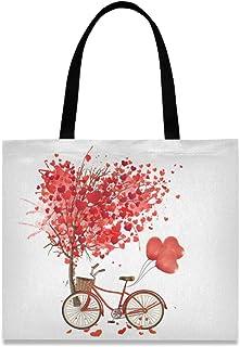 CaTaKu Sac fourre-tout en toile pour femme ou homme Motif arbre d'amour