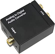 Enterest Analog to Digital Optical Audio Converter Adapter Color in Black Easy to Install Easy to Operate