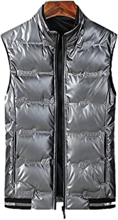 Soft Men's Outdoor Casual Vest Ultra Lightweight Down Vest Winter Coat Sleeveless Puffer Vest for Backpacking Hiking Fishi...