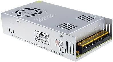 ALITOVE 5V 60A 300W Power Supply Transformer Adapter Converter AC110V/220V to DC 5V 60amp LED Driver for WS2812B WS2811 WS2801 APA102 LED Strip Pixel Light CCTV Camera Security System