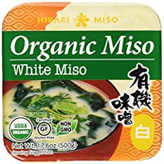 Organic white miso paste Add miso paste to boiling water to make miso soup or use as marinade USDA certified organic. No MSG. Gluten Free Product of Japan