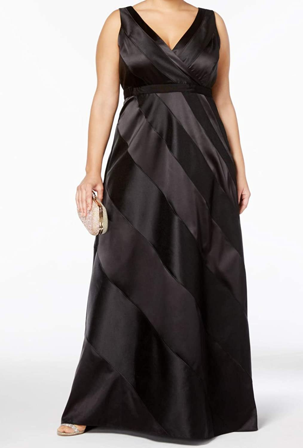 Adrianna Papell Womens Satin Special Occasion Evening Dress