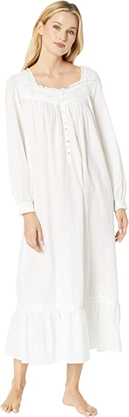 Embroidered Cotton Lawn Ballet Long Sleeve Nightgown