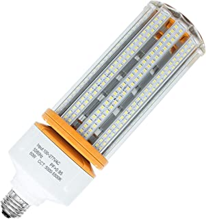 LED Corn Light 60W (Replacement 200W Metal Halide) 5000K Daylight White Cob Lamp E26 Medium Base for Indoor Outdoor Area Lighting 7500 Lumens Super Bright for Garage, barn, Porch, Backyard Canopy