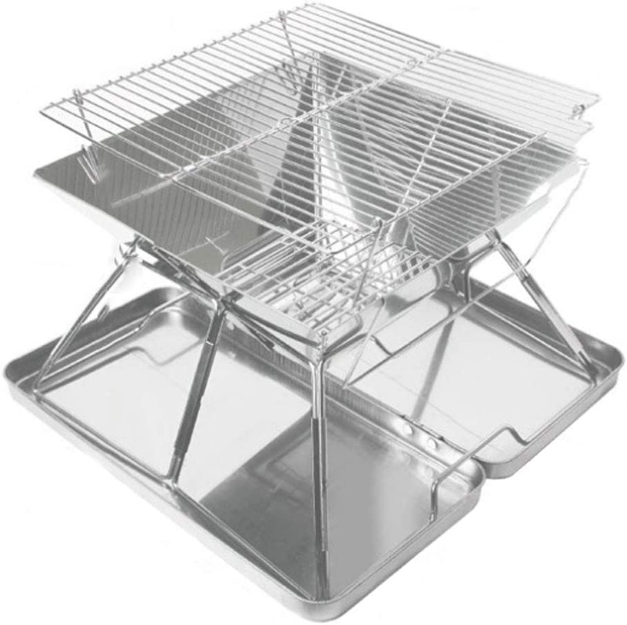 ZJJ Barbecue Grill Bombing new Special Campaign work Stainless Camping Steel Picnic Folding