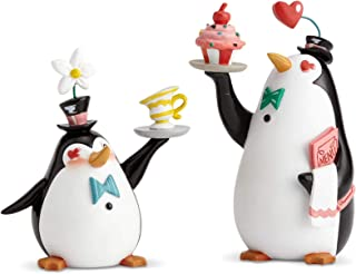 Enesco World of Miss Mindy Mary Poppins Penguin Waiters Figurine Set, 4.72 Inch and 5.9 Inch, Multicolor