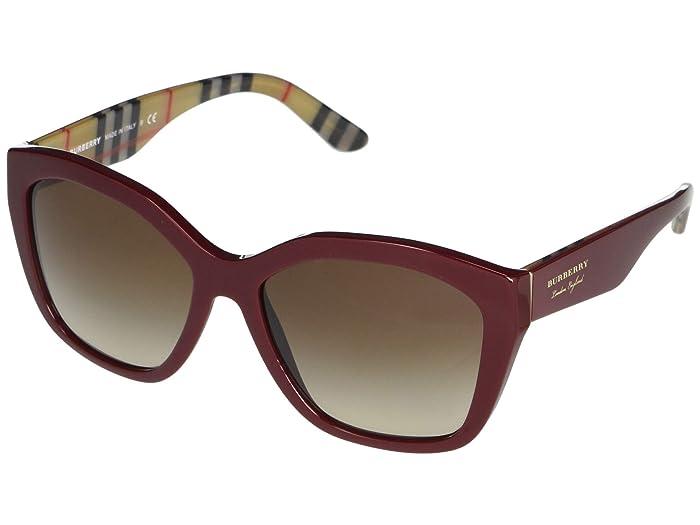 Burberry  0BE4261 (Top Bordeaux Vintage Check/Brown Gradient) Fashion Sunglasses