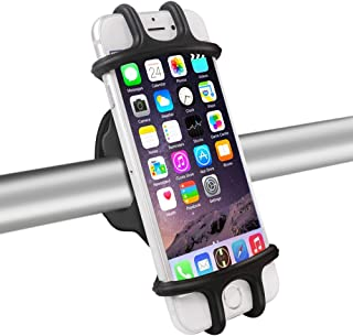 DAWNDEW Silicone Bike Phone Mount, Universal Adjustable and Anti Shake Bicycle Phone Mount, Fits iPhone/Android/GPS/Betwee...