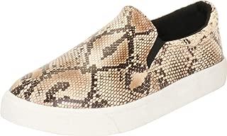 Cambridge Select Women's Classic Round Toe Stretch Slip-On Flatform Fashion Sneaker