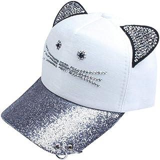 Wisilan Damen Baseballkappe mit Katzenohren Visier Cap Unisex Sonnenhut Baumwolle Sport Caps f/ür Outdoor-Aktivit/äten