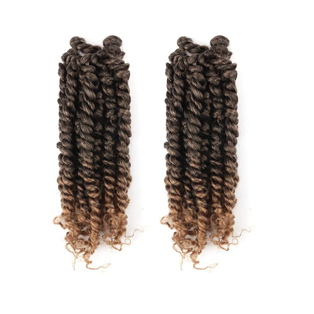 10 Inch 2 Packs free shipping Hahoness Twist Passion Ranking TOP20 Pre-twisted Hair-Ombre Go