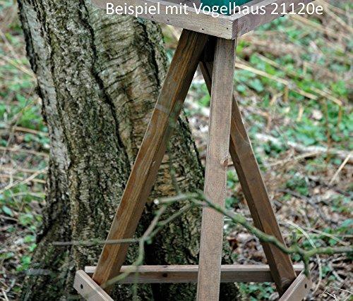 Luxus-Vogelhaus 33311e Winterfutterhaus-Ständer aus imprägniertem Kiefernholz, 60 x 60 x 90 cm - 2