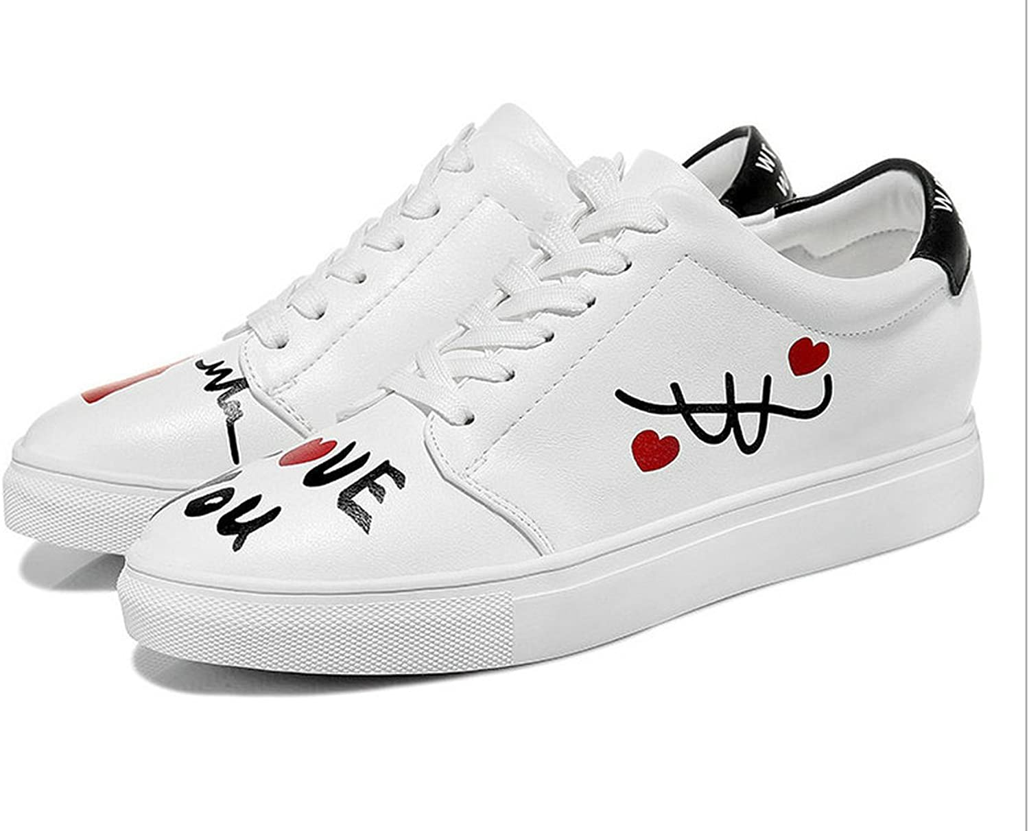 WENDYWU Women's Sneakers shoes Low All White Sport shoes
