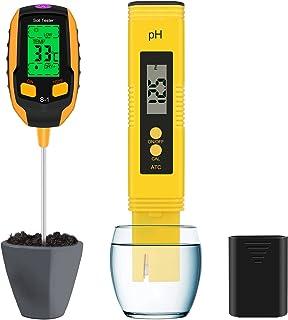 Vakdon 4-in-1 Soil Test and High Accuracy PH Meter, Soil Moisture Meter Kit,Plant Moisture/Light/pH Acidity Meter/Temperat...
