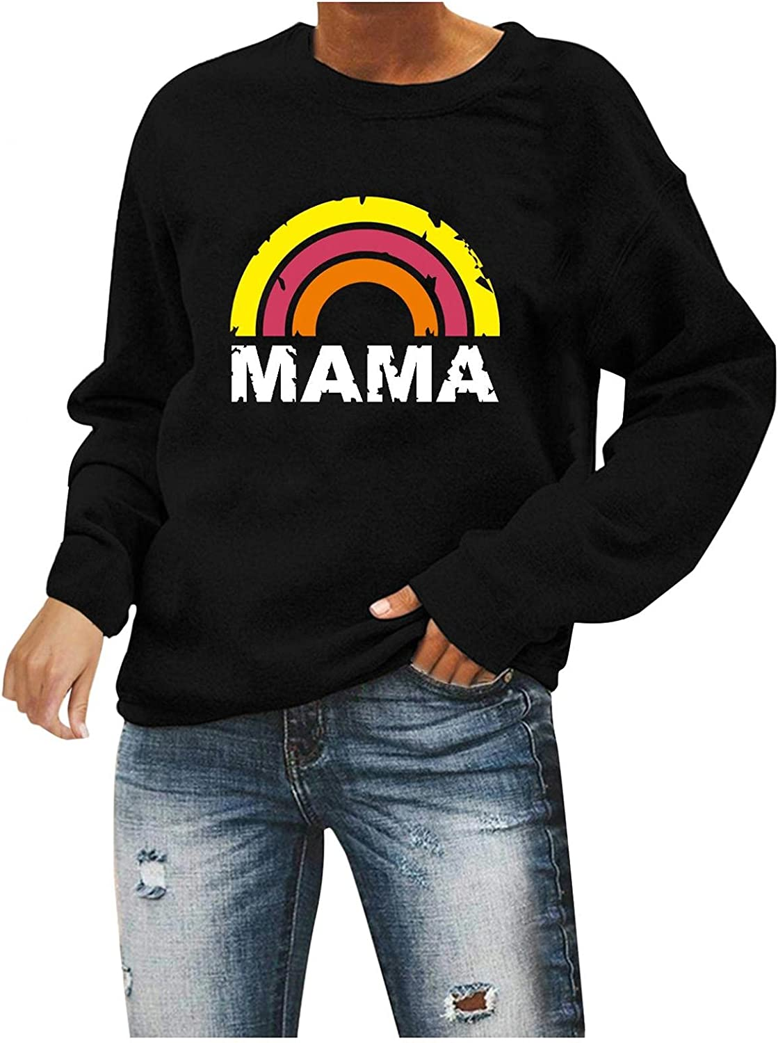 Oversized Sweatshirt for Women, Women's Pullover Hoodies Tops Casual Button Down Long Sleeve Sweatshirts with Pocket