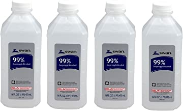 Swan Isopropyl Alcohol 99 Percent - Swan 16 Ounce 99 Percent Pack of 4
