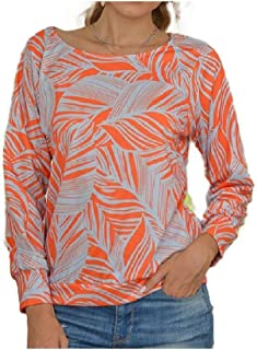 Doufine Womens Tunic Casual Flower Pattern Loose T-Shirt Blouse Top