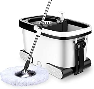 Spinning Mop and Bucket Cleaning Set-360 Degree Spinning with 4 Mop Heads