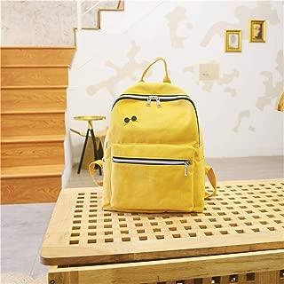 ERWEIRUILAN College Female High School Harajuku Tide Backpack College Students Simple Versatile Bag Super Fire Backpack (Color : Yellow)