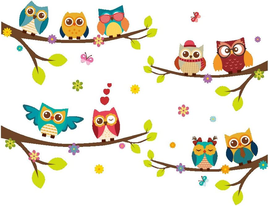 ElecMotive Branded goods Wall Stickers of Tree Decals Kids Super sale for Owls Rooms