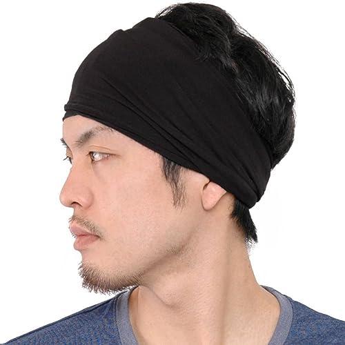 Casualbox mens Elastic Bandana Headband Japanese Long Hair Dreads Head wrap b50d507b7dd