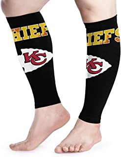 N-F-L football Calf Pain Relief Calf Compression Sleeve (1 Pair) For Men And Women.